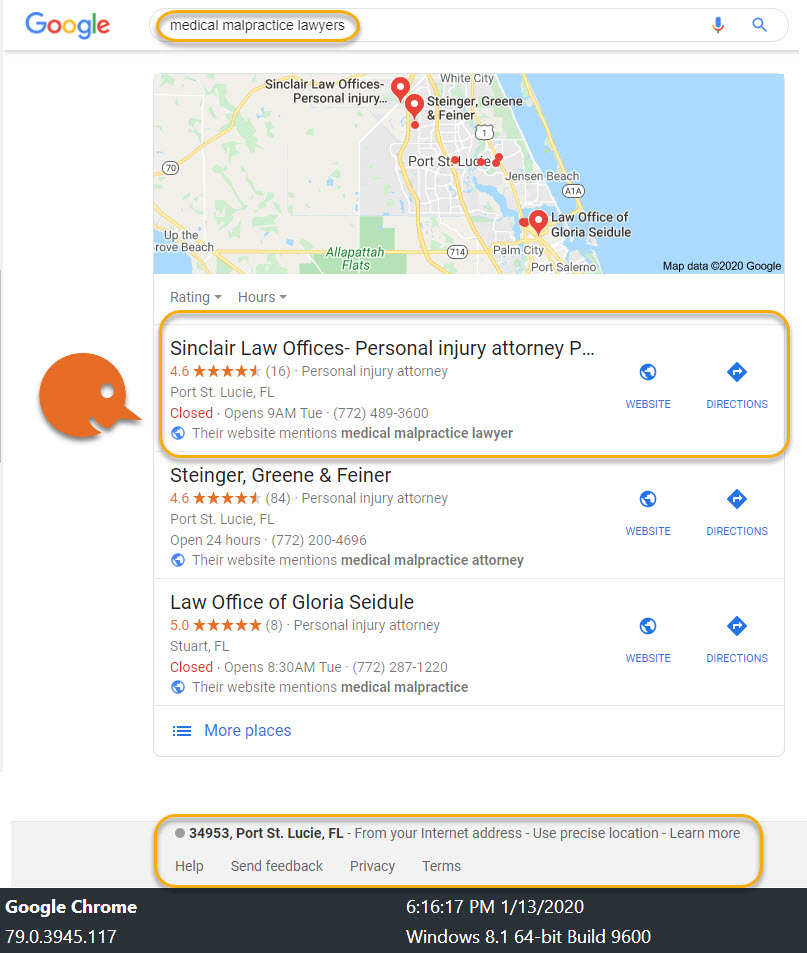 Personal Injury Attorney Local SEO Case Study 1