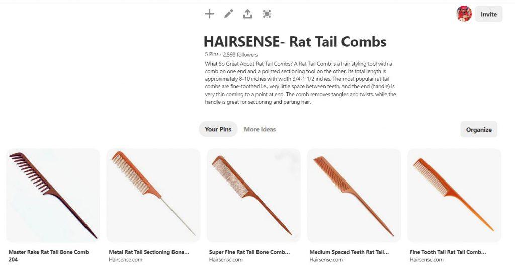 Hairsense Rat Tail Combs