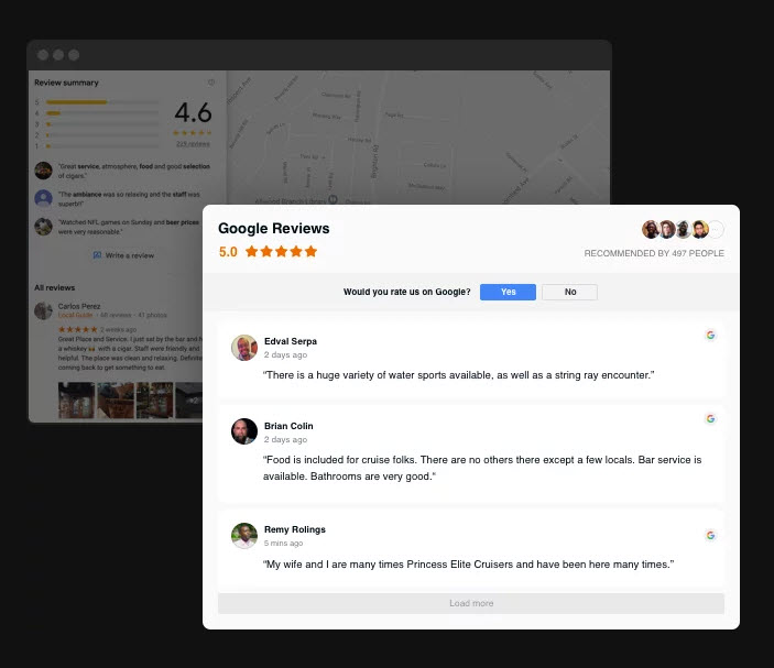 Reviews from Google for your reputation