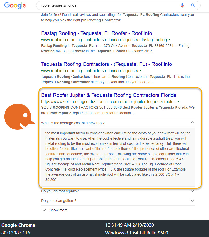 Roofing Contractor Local SEO Results 4