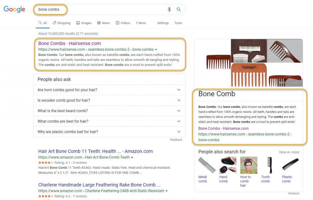 Hairsense- Design & Marketing of Seamless Bone Combs and more! 1