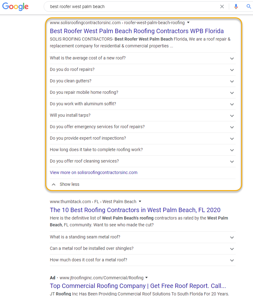 wpb seo results