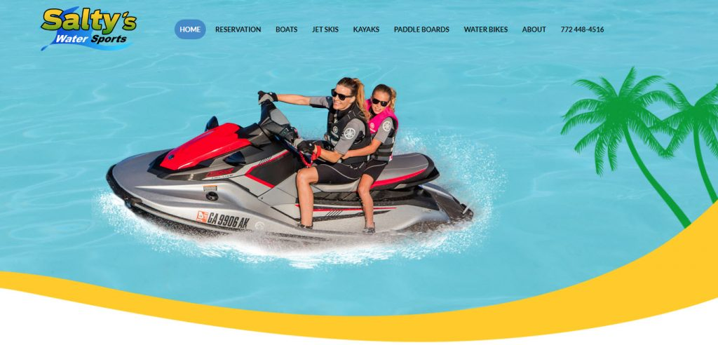 water sports re-design website