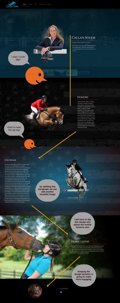 Callan Solem- Grand Prix Rider Website Design 6