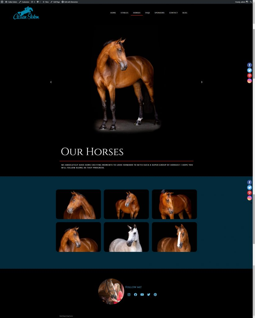 Callan Solem- Grand Prix Rider Website Design 5