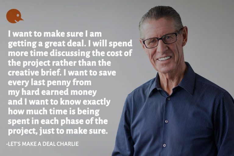 UX Character Let's Make a Deal Charlie