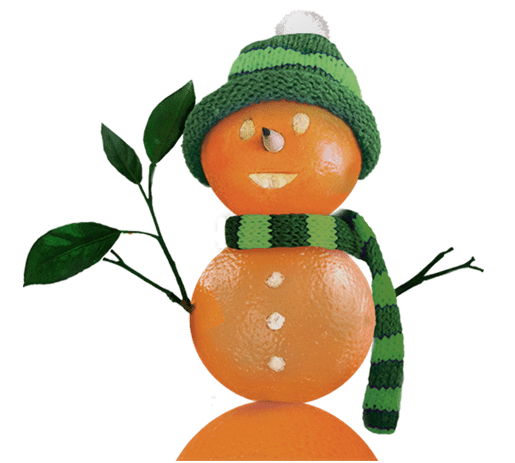 Orange Snowman Marketin Made Fresh!