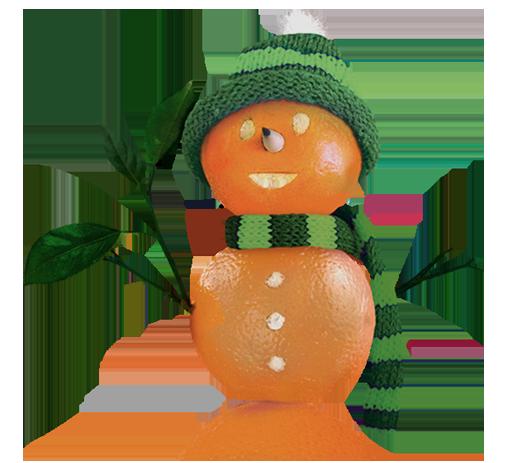 logo mascot Orange Snowman Marketing Made Fresh!