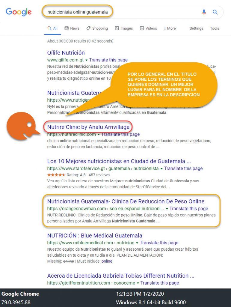 SEO en Español-Baje de peso Rápido! con Analu Arrivillaga Nutricionista Guatemala 6