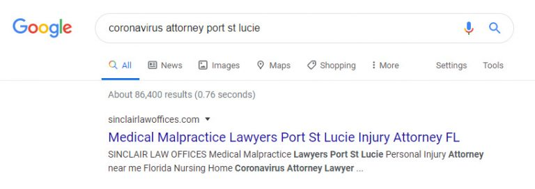 2 corona virus attorney instant indexing in google