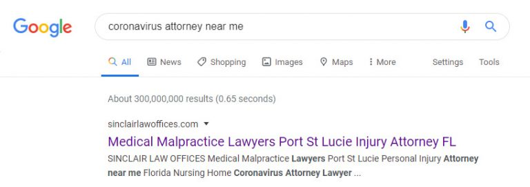 corona virus attorney instant indexing in google