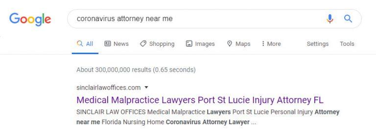 corona virus attorney instant indexing in google
