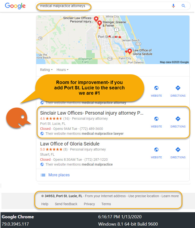 Personal Injury Attorney Local SEO Case Study 3