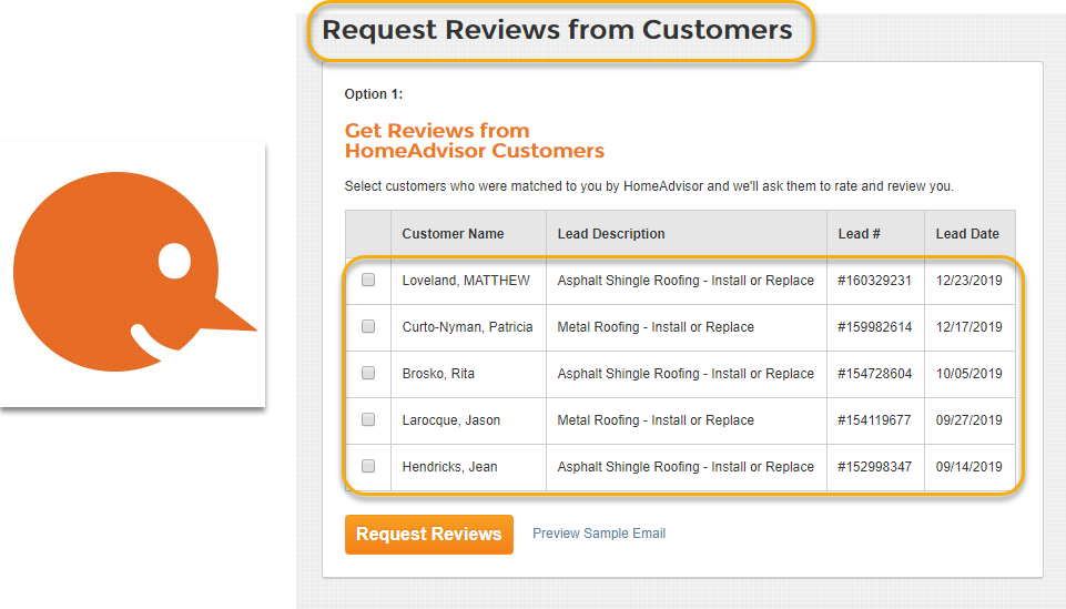 request reviews from customers