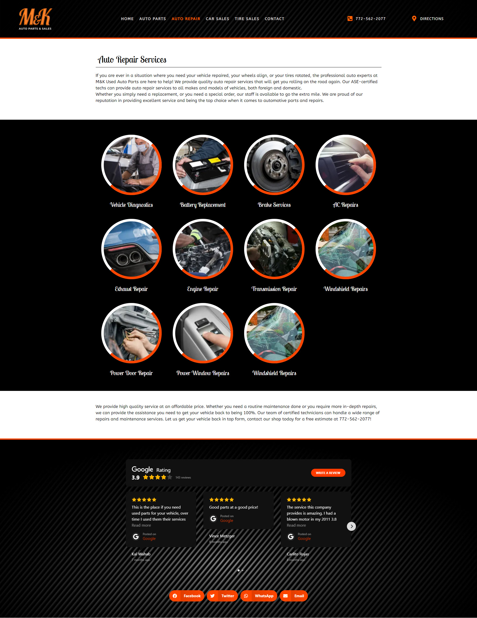 Design & Marketing For a Local Auto Parts & Repairs Company 5