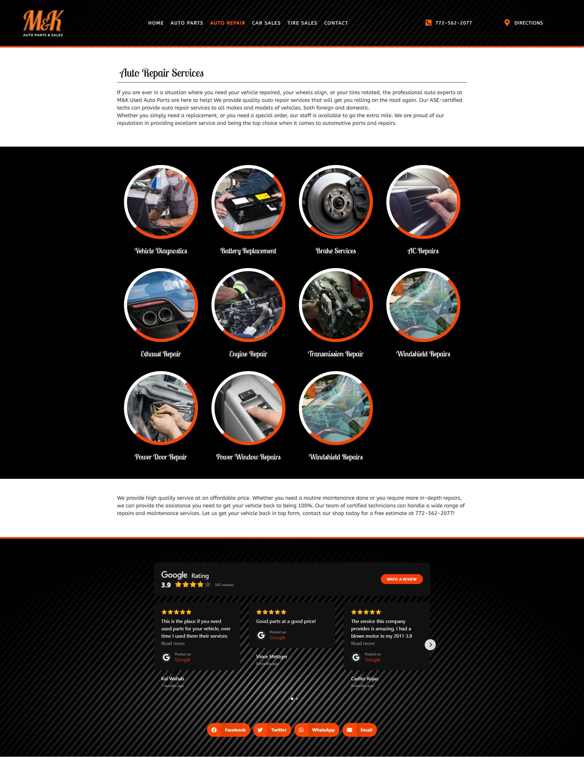 Design & Marketing For a Local Auto Parts & Repairs Company 5