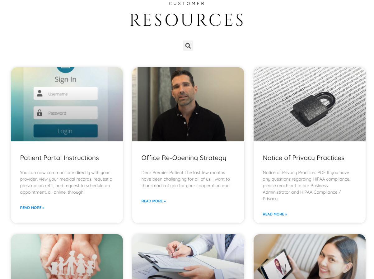 Medical Care Website Design 76