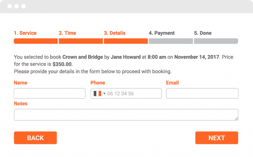 Booking System with SMS Reminders for Wordpress Websites 30