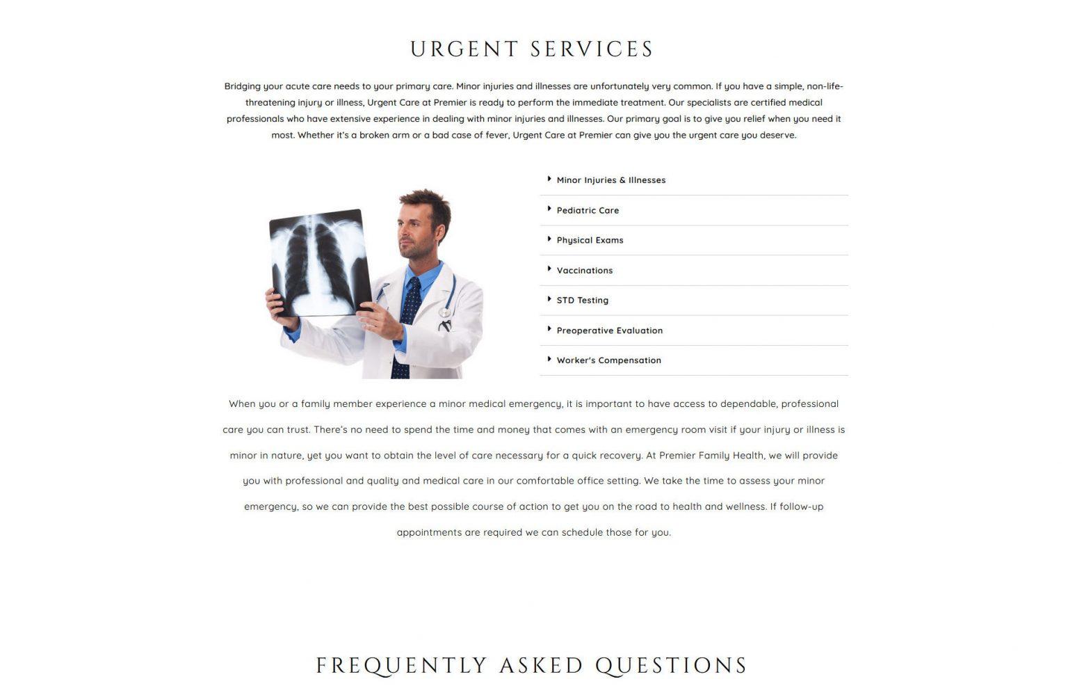 Emergency Care Website Design 33