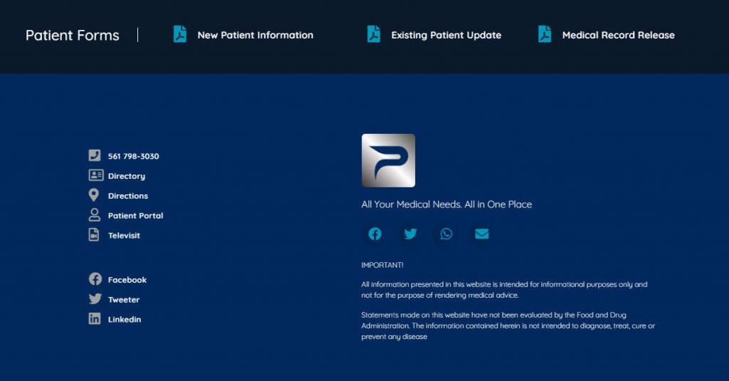 Medical Care Website Design 74