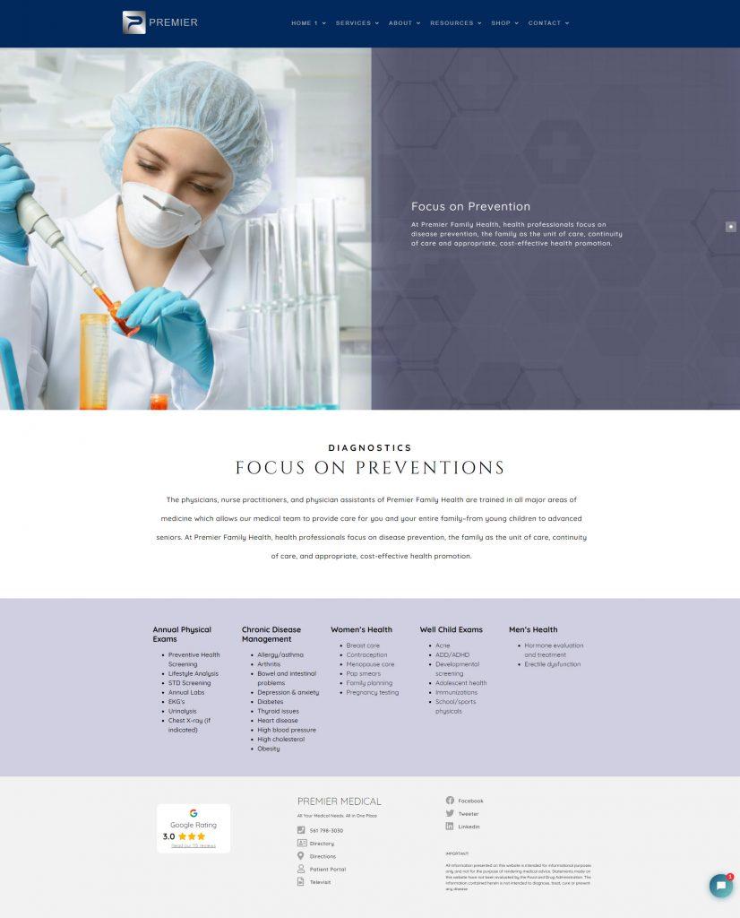 Medical Diagnostic lab website design